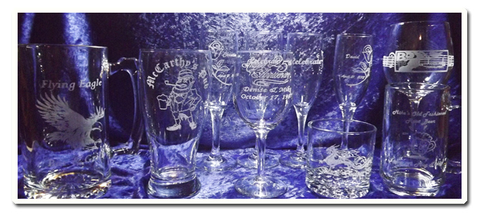 glass-engraved-wineglasses-and-beer-mugs